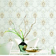 Wall Paper Wall Covering,European Style Classical Damask PVC Wall Paper