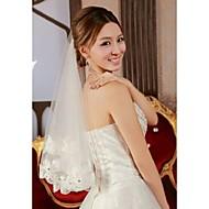 Wedding Veil One-tier Elbow Veils Lace Applique Edge 61.02 in (155cm) Tulle