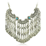 Gypsy Statement Vintage Necklace Ethnic Jewelry Boho Coin Necklace