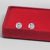 Stud Earrings Couples'/Women's Silver Earring Cubic Zirconia