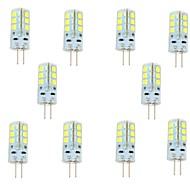 3W G4 LED Bi-pin 조명 24 SMD 2835 270 lm 차가운 화이트 DC 12 V 10개
