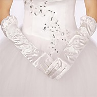 Elbow Length Fingertips Glove Satin/Polyester Bridal Gloves/Party/ Evening Gloves