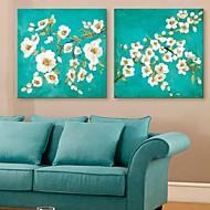 E-Home® Leinwand Kunstblumen dekorative Malerei Satz 2