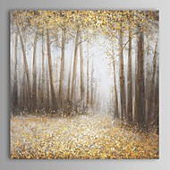 Hand-Painted Abstract / Landscape / Abstract Landscape One Panel Canvas Oil Painting For Home Decoration