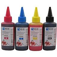 bloom® dye blekk egnet for epson ciss refill for Epson blekkpatron 100ml (4 farge en mye)