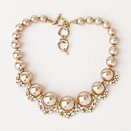 Women's Pearl/Alloy Necklace Engagement/Birthday/Party