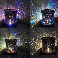 Wedding Décor Color-changing Star Beauty Starry Sky Projector Night Light (3xAA, Random Color)