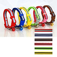 Cat / Dog Collar Reflective / Adjustable/Retractable / Safety Red / Green / Blue / Brown / Pink / Yellow Nylon