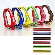 Katzen / Hunde Halsbänder Reflektierend / Regolabile/Einziehbar / Sicherheit Rot / Grün / Blau / Braun / Rosa / Gelb Nylon