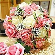 라운드 신부의 꽃 낭만적 인 결혼식 신부의 부케는 신부의 꽃 장미 꽃다발 (더 많은 색상)
