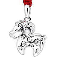 Ladies' Silver Sheep Pendant Chain Necklace