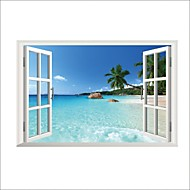Landscape Wall Stickers Plane Wall Stickers,PVC 90*60cm;35.4*23.6inch