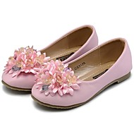Girl's Spring / Fall Comfort / Round Toe / Closed Toe Leather / Calf Hair / Leatherette Outdoor / Casual / Athletic Flat HeelCrystal /