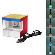 llevado colorido del usb cubo mágico lápiz eléctrico afilador