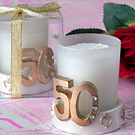 50th Anniversary Golden Wedding Candle(set of 4)