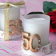 50e verjaardag gouden bruiloft kaars (set van 4)