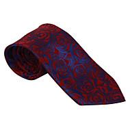 בורדו&עניבת דפוס כחולה כהה