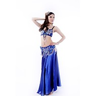 Belly Dance Outfits Women's Performance Sequined / Silk Buttons / Paillettes / SequinsBlue / Fuchsia / Gold / Orange / Purple / Red /