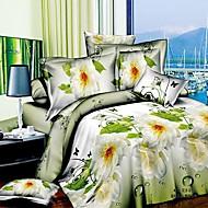 baolisi® 3d Mode komfortable Blumendruck Bettwäsche vier Stück