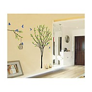 Wall Stickers Wall Decals, Style Trees And Birds PVC Wall Stickers