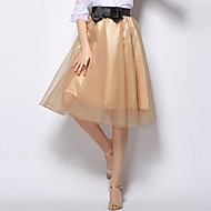 Women's Blue/Pink/Red/Black/Gold Skirts , Casual/Cute/Party Knee-length