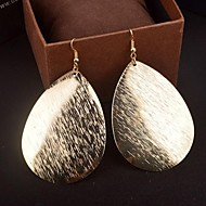 Simple Major Suit Frosted Surface Alloy Drop Earrings(Golden,Silver)(1 Pair)
