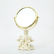 """HOSHINE® 14"""" H Cupid Angel European Style Makeup Polyresin Mirror Two Sides"""