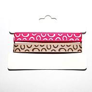 3/8 인치 폴리 에스테르 리브 벨트 인쇄 잉크 도트 매직 버블 (두 가지 색상 하나 카드) 롤에 1 야드 ribbon-