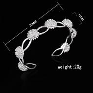Fashion Sterling Silver Plated Bangle Women's Bracelet
