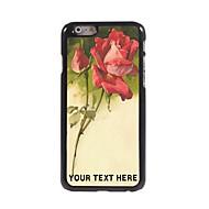 εξατομικευμένη περίπτωση του τηλεφώνου - σκίτσο τριαντάφυλλο σχεδιασμό μεταλλική θήκη για το iphone 6 συν