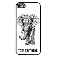 iPhone 5 / 5S用のパーソナライズされた場合の象のデザイン金属ケース
