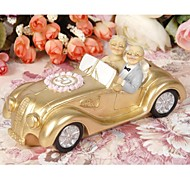 toppers torta coppie matrimonio d'oro in un golde auto 50th anniversary cake topper