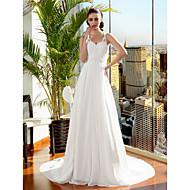 Lanting Bride® Linea-A / Da principessa Taglie forti / Petite Abito da sposa Strascico di corte Con bretelline Chiffon con