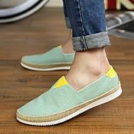 Men's Spring / Summer / Fall Comfort / Round Toe Canvas Casual Flat Heel Blue / Green / Gray / Navy