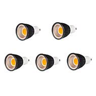 5pcs GU10 7W 500-550lm fraîche couleur blanche / chaude conduit ampoule de lampe de lumière de tache de torchis (85-265V)