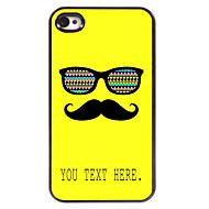 εξατομικευμένη περίπτωση μουστάκι και γυαλιά μεταλλικό σχεδιασμό υπόθεση για το iphone 4 / 4s