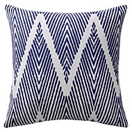 Modern Ikat Polyester Cotton Decorative Pillow Cover