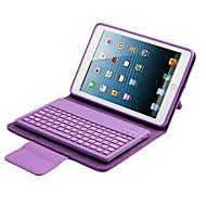 Para Case Tampa Com Suporte Com Teclado Flip Corpo Inteiro Capinha Cor Única Rígida Couro PU para iPad Mini 3/2/1
