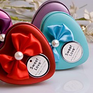 Heart Shaped Bow  Tinplate  Wedding Box-Set Of 9