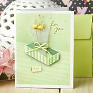 Zij Vouw Bedankkaarten Uitnodigingen van het Huwelijk Niet-gepersonaliseerde