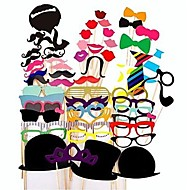 Wedding Décor 58 PCS Card Paper Photo Booth Props Party Fun Favor for Party