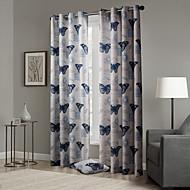 (Two Panels) Blackout Gorgeous Pop Style  Butterflies Pattern Curtain