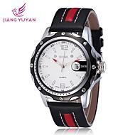 SKONE® Men's Watch Japanese Quartz Sport Watch Calendar PU Band Cool Watches Unique Watches