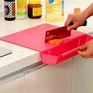29 × 38 × 6.7 סנטימטר יצירתי קרש חיתוך רב תכליתי, פלסטיק צבע אקראי (11.5 × 15.0 × 2.7 אינץ ')