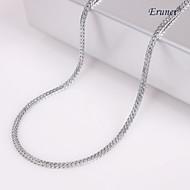 Eruner®Unisex 2MM Silver Chain Necklace NO.47