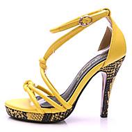 נשיםעור-פלטפורמה-צהוב בז'-משרד ועבודה שמלה יומיומי מסיבה וערב-עקב סטילטו פלטפורמה