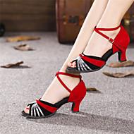 Non Customizable Women's Dance Shoes Modern Suede/Paillette Cuban Heel Outdoor  More  Colors