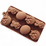 Cake Mold Soap Mold Rabbit Easter Egg Mold Silicone Mould For Candy Chocolate
