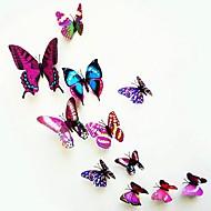 muurstickers, moderne stadsleven pvc stereo paarse vlinder muurstickers