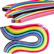 400Stk. 3Mmx53Cm Origami Papir (40 Farve X10 Stk / Farve) Gør-Det-Selv Kunsthåndværk Dekoration